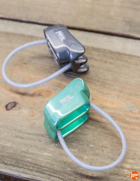 Petzl-Verso-3 assurage escalade dispositifs plaquette assureurs descendeurs freinage assiste securite