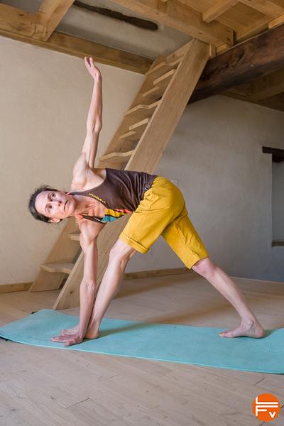 parivrtta trikonasana-yoga-escalade-contre-pointe