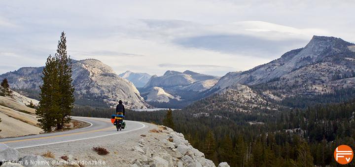 cycling in Yosemite Nat parc, toward Tuolomne meadows