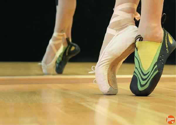 chaussons escalade ballerine danse en finir avec les entorses de la cheville en bloc