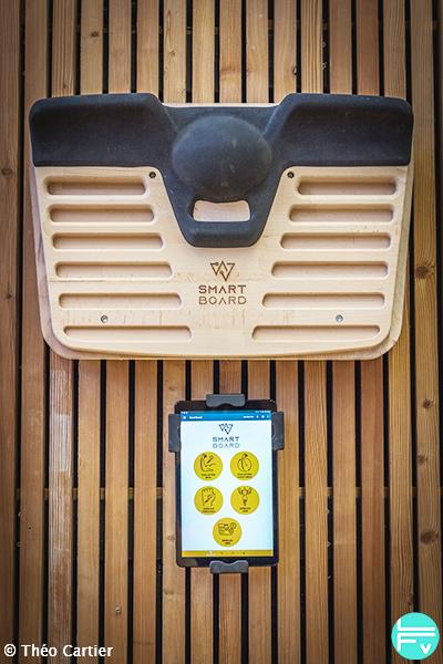 smartboard et ipad-plusieurs profondeurs de prises sur la poutre connectée