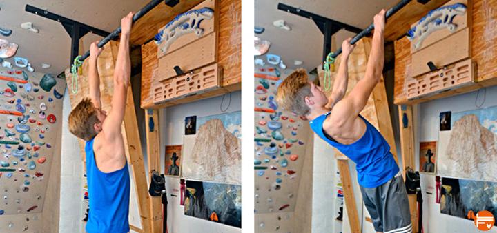 scapular-pull-ups training for climbing