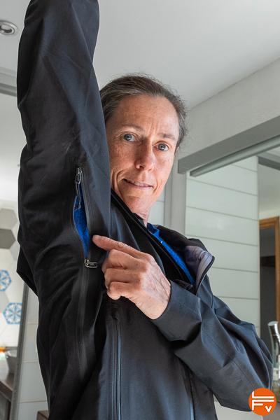 système de ventilation veste goretex