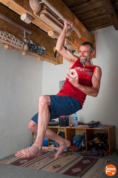 grimpeur force blocage, entraîner la force