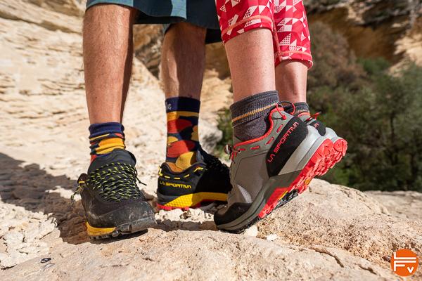 TX guide La sportiva version hommes et femmes chaussures approche escalade