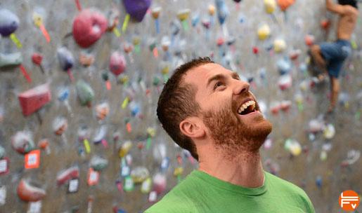 rire escalade plaisir de grimper