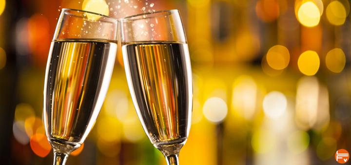 alcool coupes de champagne