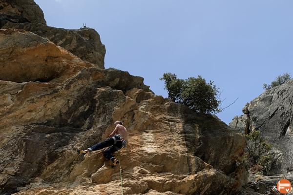 entrainement bi-quotidien escalade falaise