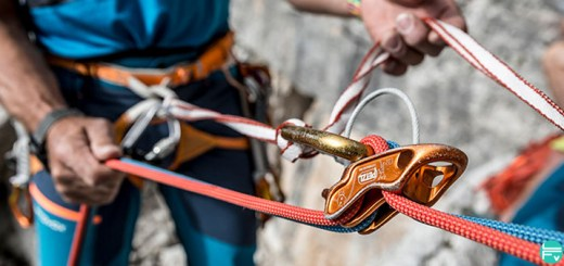 multipitch climbing rappelling techniques