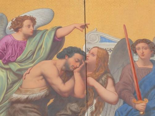 """""""chassés!"""" (peinture céramique)"""