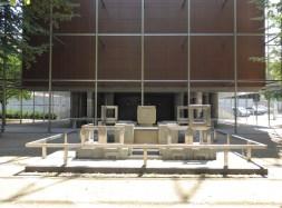 Ensemble piliers et socle (Architecture Studio)