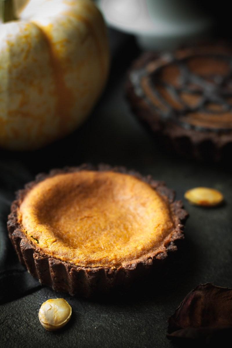 Tartelettes potimarron et chocolat {vegan,sans gluten, IG bas} | www.lafaimestproche.com