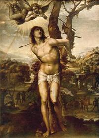 San sebastiano nel quadro Sodoma di Giovanni Antonio da Vercelli