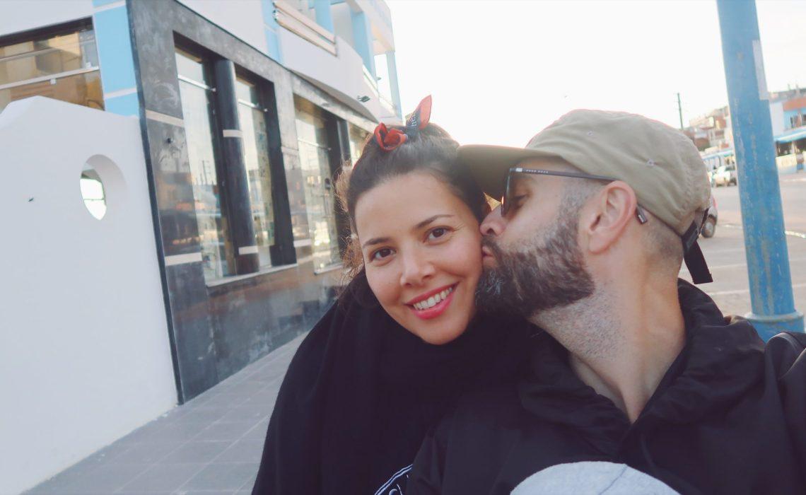 Paul et Gizem à Moulay-Bousselham au Maroc