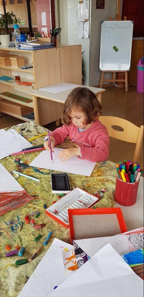 Travail de Payna à Montessori Casablanca