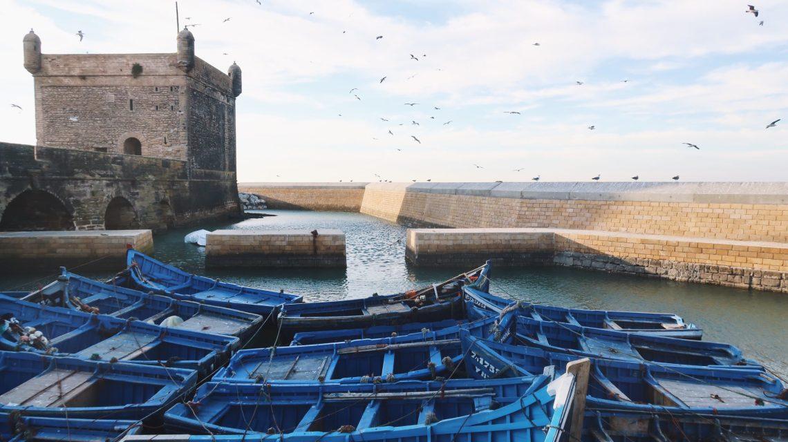 Port d'Essaouira, bateaux