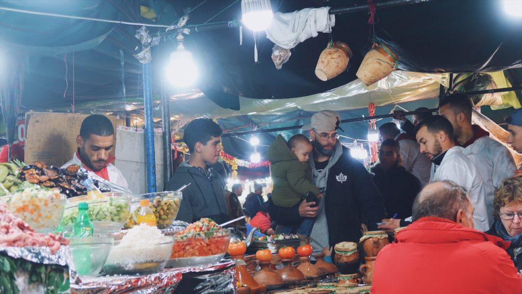 Voyage au Maroc Marrakech restaurant échoppe place jamaa el-fna
