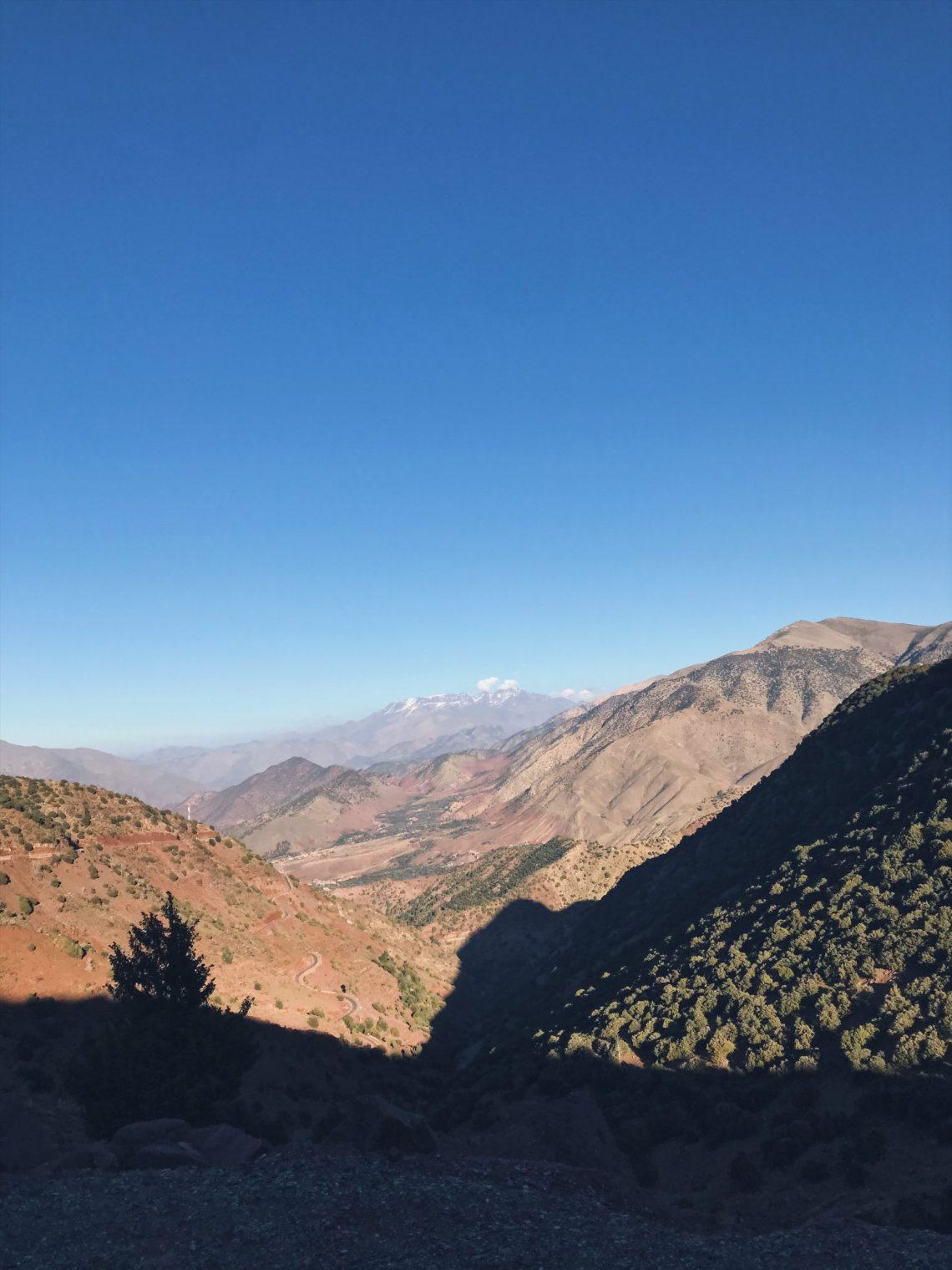 Voyage au Maroc Tizi-n-Test vue panoramique Toubkal