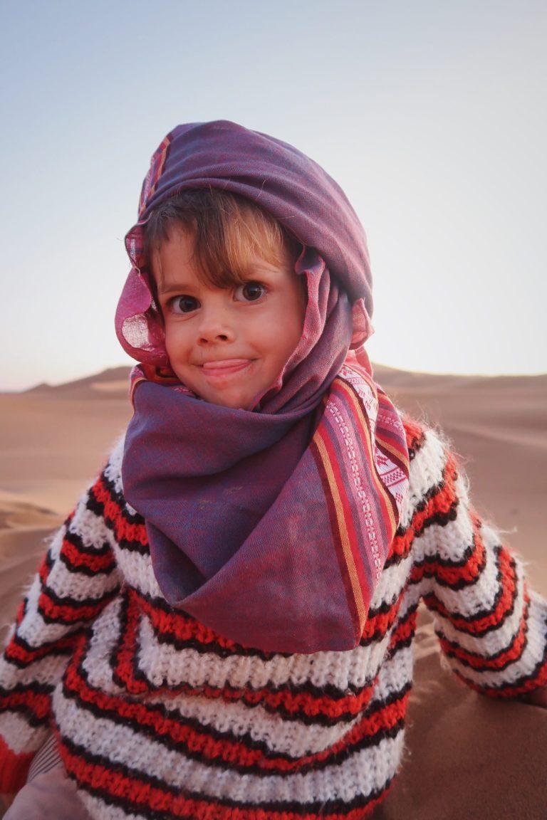 Voyage au Maroc Desert Sahara Erg Chegaga avec les enfants