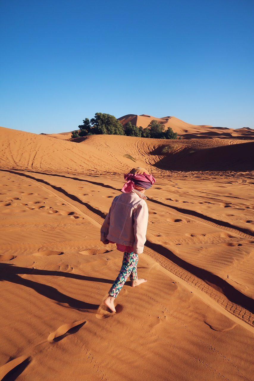 Voyage au Maroc ballade dans le désert de Sahara Merzouga