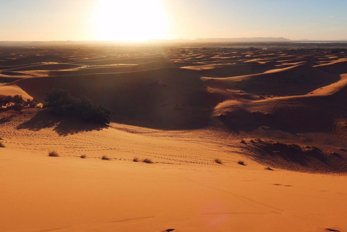 Voyage au Maroc désert de Sahara Merzouga vue panoramique