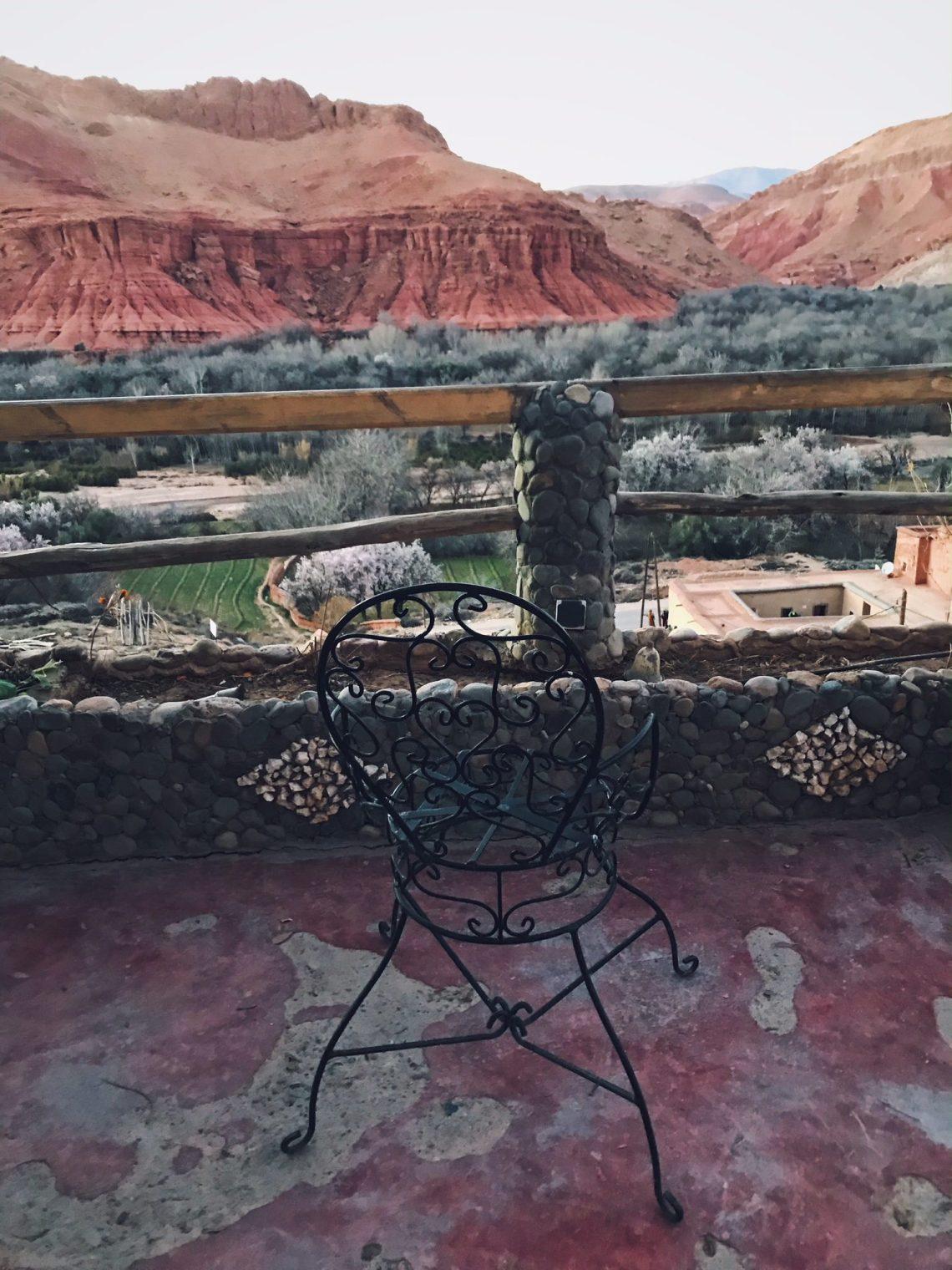 Voyage au Maroc vallée des roses vue auberge chems