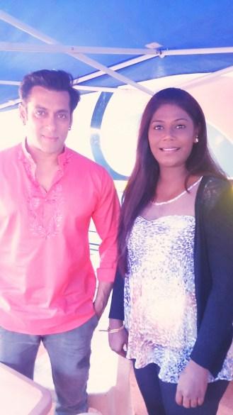 Rachel with Salman Khan