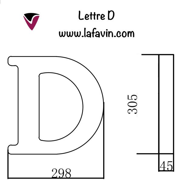 Lettre D Dimensions