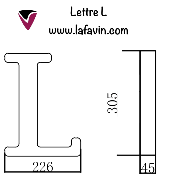 Lettre L Dimensions
