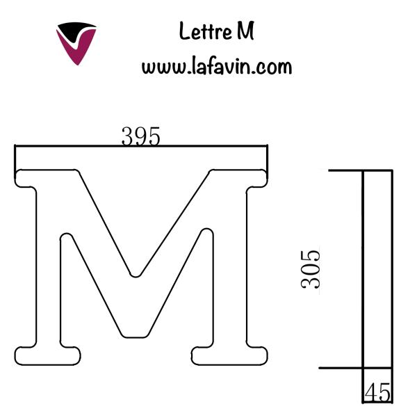 Lettre M Dimensions