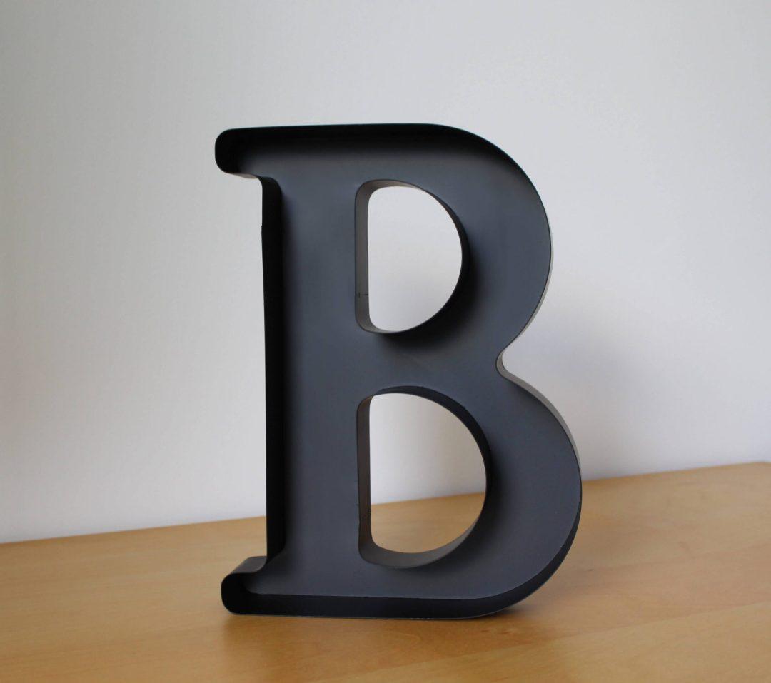 Lettre B déco