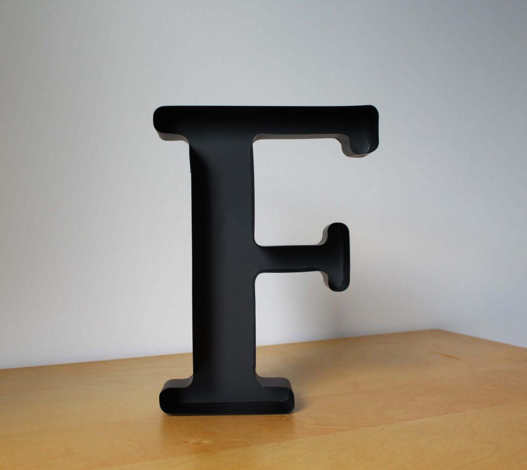 Lettre F déco