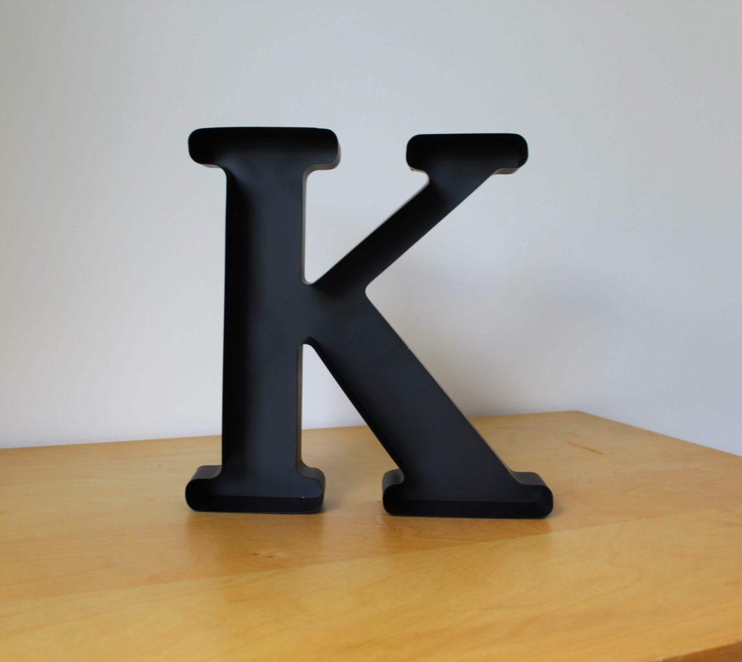 Lettre K déco