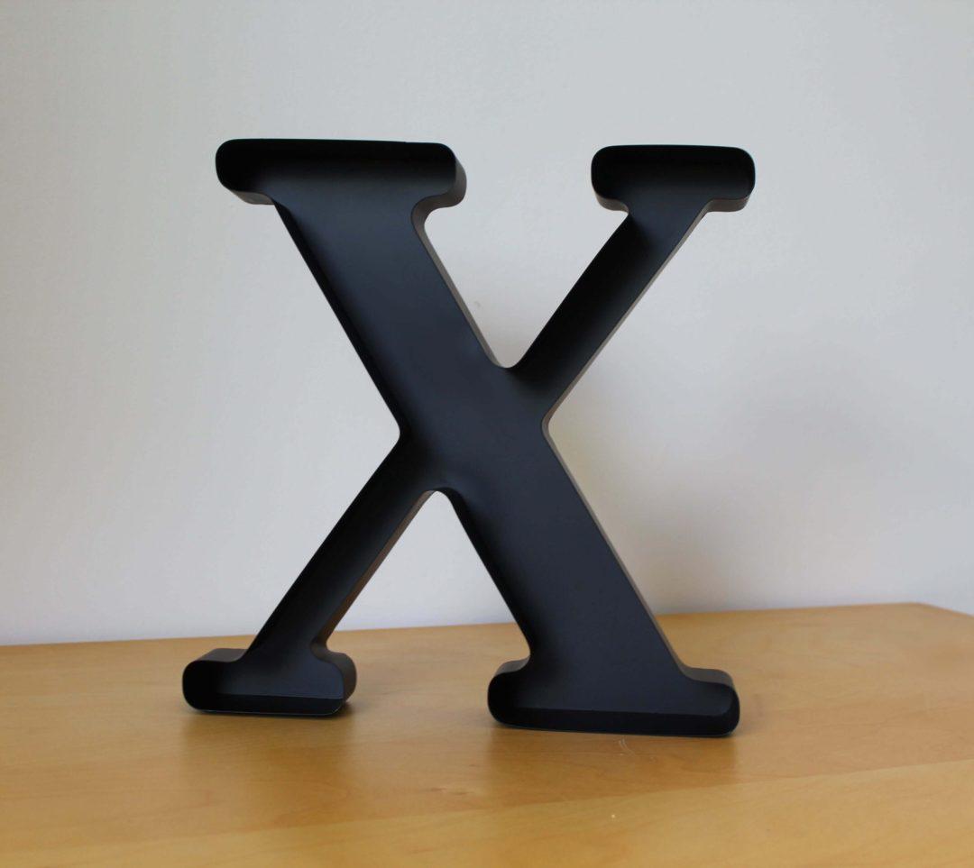 Lettre X bouchons