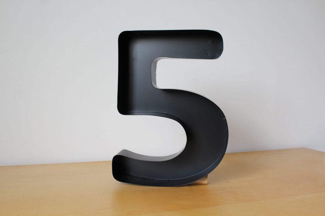 Chiffre cinq LAFAVIN