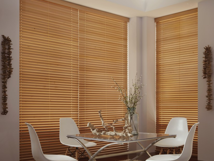 Heartland Woods Wood Blinds offer clean lines and impeccable style