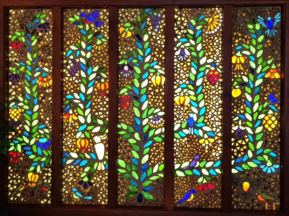 The Tree of Life Stained Glass by Fayetteville Native, Elizabeth Grafton