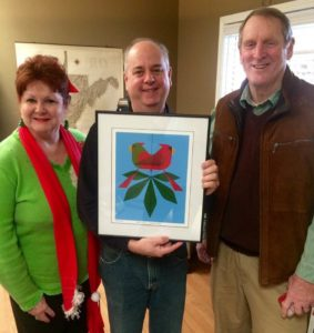 Amy's Parents Gifting a Charley Harper Print to Shawn