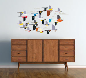 harley Harper Flock of Birds Decals Display