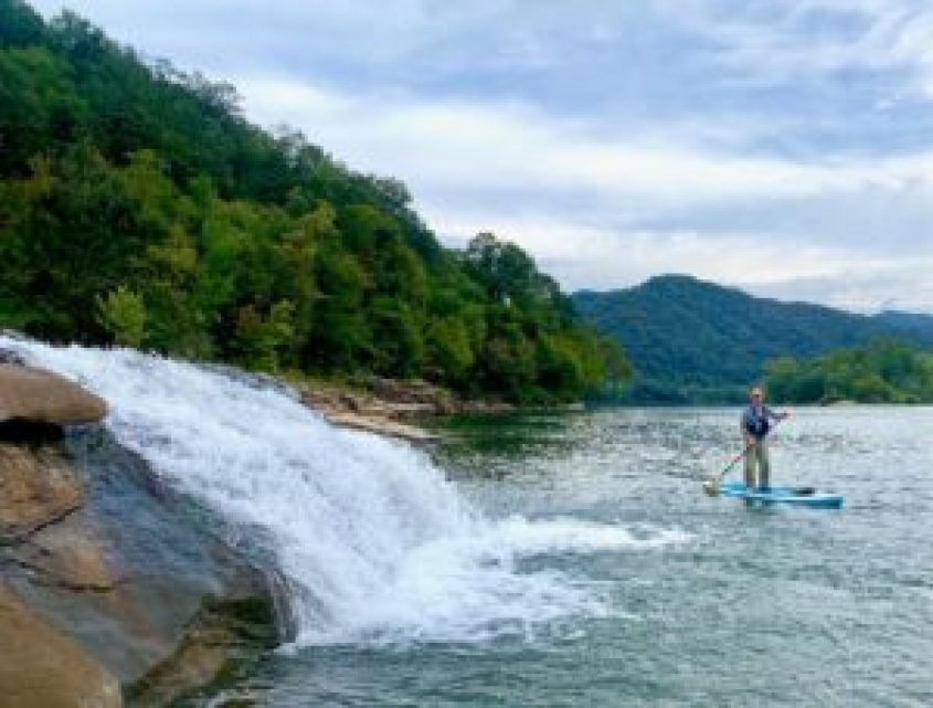 Shawn Standup Paddleboarding in on the Kanawha