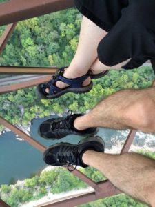 Couple on New River Gorge Bridge.