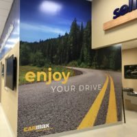 CarMax wall graphics installation