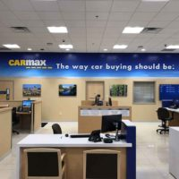 CarMax wall graphics and 3-D lettering installation