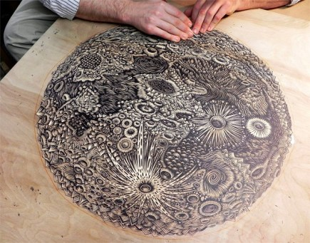 Carving of The Moon by Tugboat Printshop