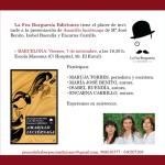 Cartel de presentación de Amarillo luciérnaga en Barcelona