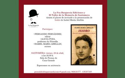 """Presentación del libro """"Isidro"""" de Isabel María Abellán en Santomera"""