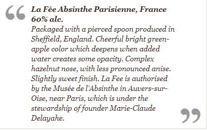 Excerpt regarding La Fée Absinthe
