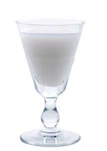 Glass of La Fée Blanche which has louched