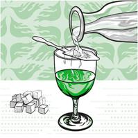 Traditional absinthe serve
