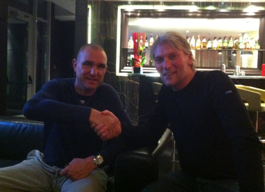 George Rowley with Vinnie Jones